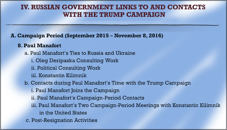 Trump Contacts with Russians